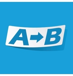 A to B sticker vector