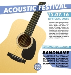 Acoustic festival performance poster in your club vector