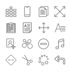 Apps icon set over linen vector