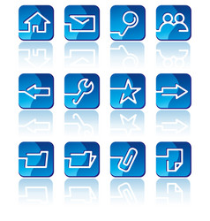 base the icon internet vector image