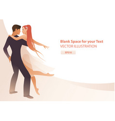 beautiful couple dancers holding each other vector image