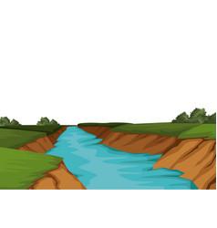 Beautiful landscape view vector