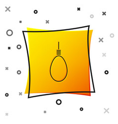 Black gallows rope loop hanging icon isolated on vector