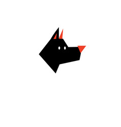 Black outline icon dog vector