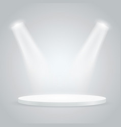 bright stage with projectors layout vector image