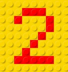 building kit of plastic Font 28 vector image