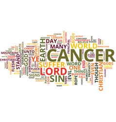 Cancer of sin why do christian suffer text vector