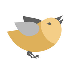 Cartoon bird isolated abstract titmouse bullfinch vector