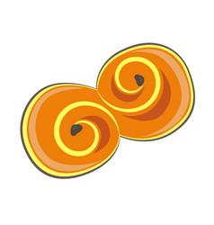 clip art saffron bun vector image