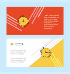 Clock abstract corporate business banner template vector