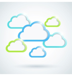 Clouds background Eps10 vector image