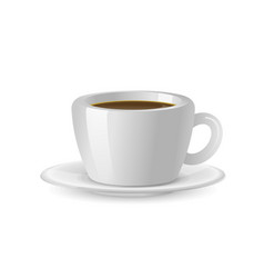 coffee cup isolated on a transparent background vector image