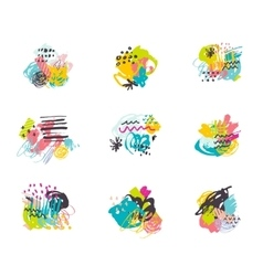 Creative hand drawn backgrounds collection vector