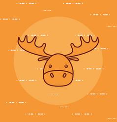 Cute elk icon image vector