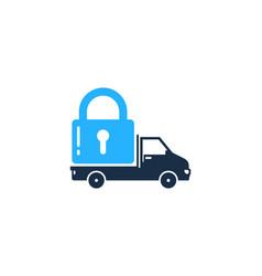 delivery security logo icon design vector image