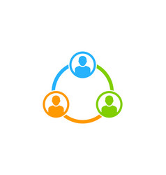 diagram social network logo icon design vector image