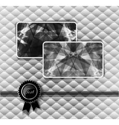 Diamond business cards vector image