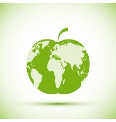 Earth apple shape vector