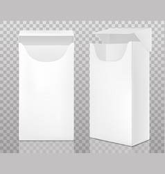 Empty open pack cigarettes vector