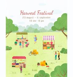 Fair holiday harvest festival invitation vector