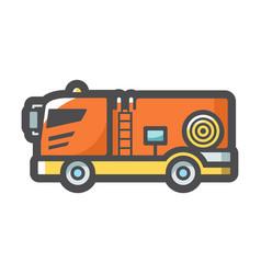 fire engine rescue car icon cartoon vector image