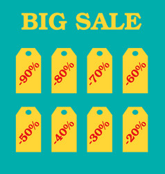 flat design sale discount sale vector image