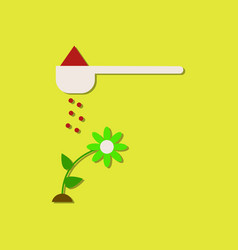 Flat icon design collection care for flower vector