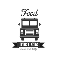Fresh Food Truck Label Design vector