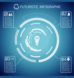Futuristic abstract infographics vector