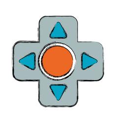 gamepad cross isolated vector image