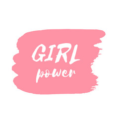 Girl power hand drawn letteringe badge vector