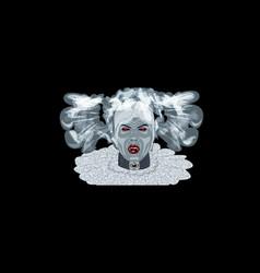 halloween vampire bride costume mask vector image