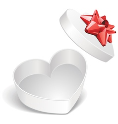 heart present box vector image vector image