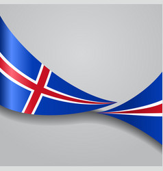 Icelandic wavy flag vector