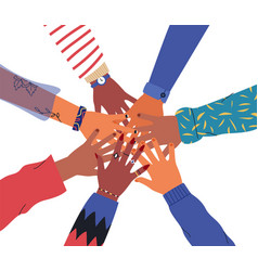 Isolated friends or people hand circle concept vector
