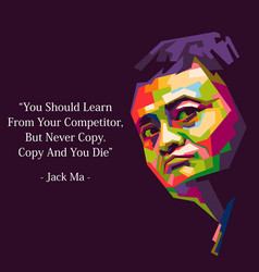 Jack ma quote vector