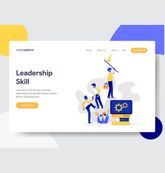 landing page template leadership skill vector image
