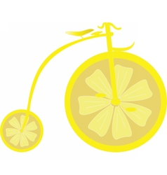 Lemon Bicycle vector image