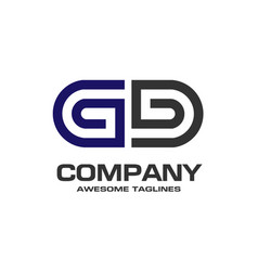 letter gd geometric business logo vector image
