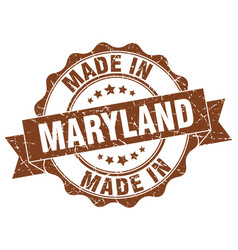 Made in maryland round seal vector