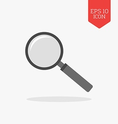 Magnifying glass icon Flat design gray color vector image