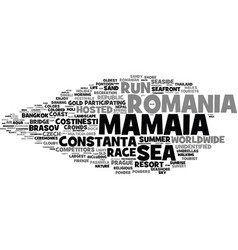 Mamaia word cloud concept vector