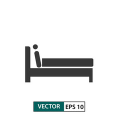 man in bed icon isolated on white eps 10 vector image