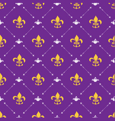 Mardi gras seamless pattern hand drawn sketched vector