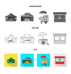 Market and exterior symbol vector