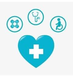 medicine blue heart vector image