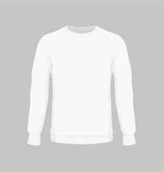 mens white sweater vector image