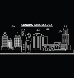 mississauga silhouette skyline canada vector image