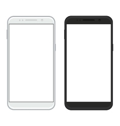 modern realistic smartphones on white vector image