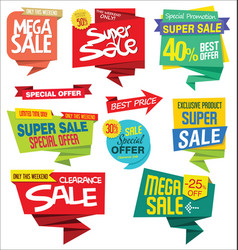 modern sale sticker and tag colorful collection vector image